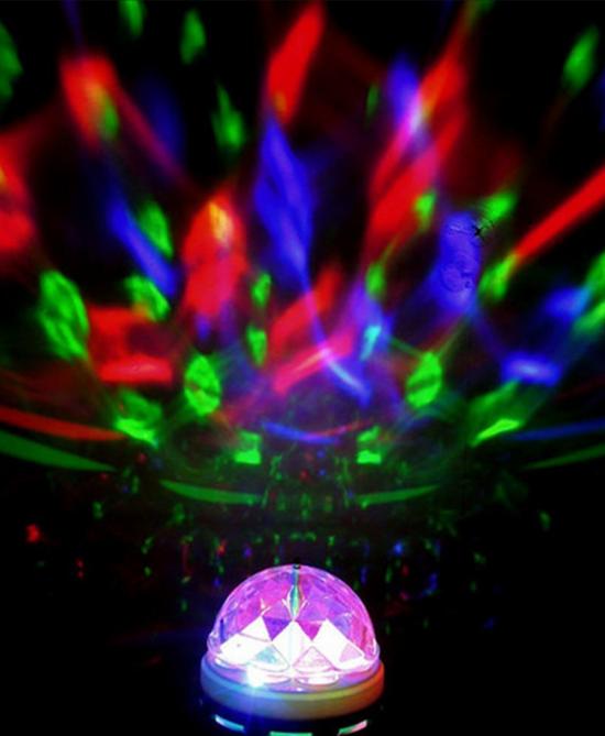 Bolverlichting 6 bollen in combi met disco LED