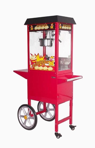 Popcornmachine met gratis 100 porties