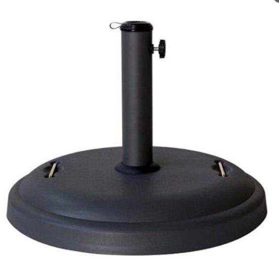 Zwarte parasol met draaimechanisme en windvanger (3 meter)