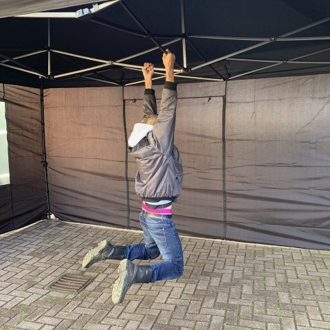 Easy-up tent 3x4.5 meter zwart